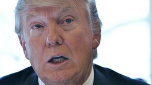 Le président américain Donald Trump s'exprime le 8 février 2017 à la Maison-Blanche à Washington. (MANDEL NGAN / AFP)