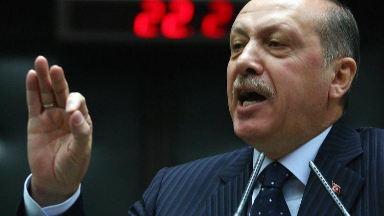 Le Premier ministre turc Recep Tayyip Erdogan, le 22 novembre 2011 à Ankara (Turquie). (ADEM ALTAN / AFP)