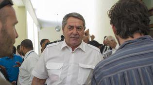 """Pascal Fauret, l'un des deux pilotes d'""""Air Cocaïne"""", lors de son procès à Saint-Domingue (République dominicaine), le 13 août 2015. (ERIKA SANTELICES / AFP)"""