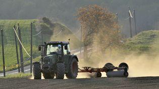 La sécheresse affecte aussi les terres agricoles. (THIERRY ZOCCOLAN / AFP)