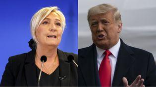 Marine Le Pen et Donald Trump (montage). (THOMAS SAMSON / AFP - ANDREW CABALLERO-REYNOLDS / AFP)