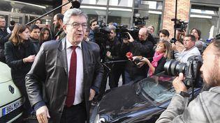 Le leader de La France insoumise, Jean-Luc Mélenchon, le 18 octobre 2018, à Nanterre (Hauts-de-Seine). (ALAIN JOCARD / AFP)