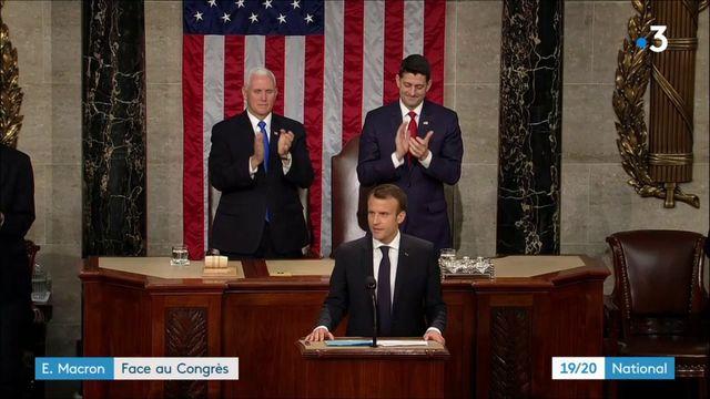 Visite d'État aux États-Unis : Emmanuel Macron face au Congrè