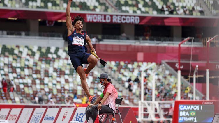 Arnaud Assoumani au concours de saut en longueur T47 des Jeux paralympiques de Tokyo, mardi 31 août. (T. Nguyen / France Paralympique)