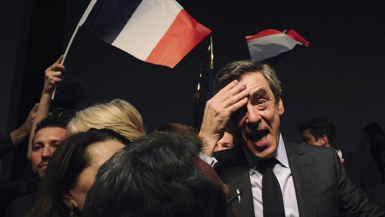 François Fillon, le 15 mars 2017, à Pertuis dans le Vaucluse. (Photo d'illustration) (FRANCK PENNANT / AFP)