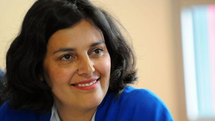 Myriam El Khomri, la secrétaire d'Etat chargée de la Politique de la ville, le 7 juillet 2015 à Blois (Loir-et-Cher). (MAXPPP)