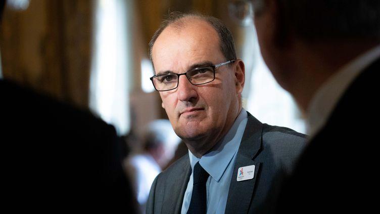 Jean Castex, alors délégué interministérielaux Jeux olympiques et paralympiques de 2024, à Paris, le 14 juin 2018. (CHRISTOPHE MORIN / MAXPPP)