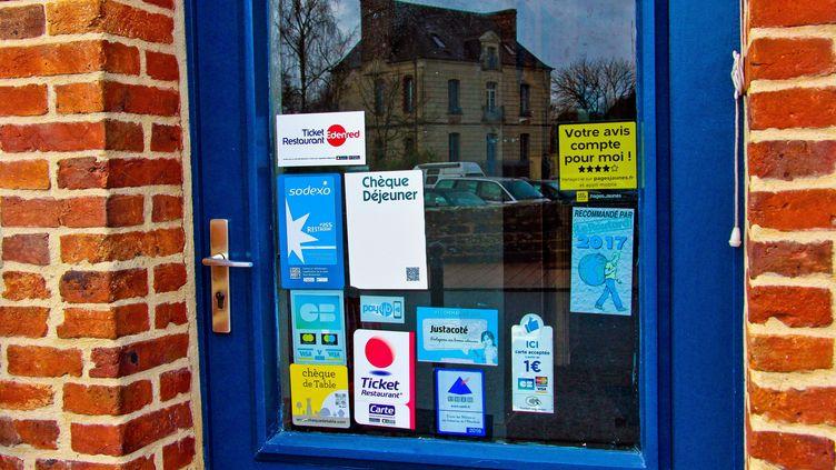 L'entrée d'un restaurant, le 25 janvier 2019, en Bretagne. (GILE MICHEL/SIPA)
