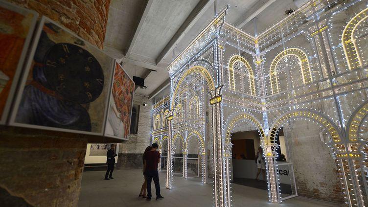 L'exposition Monditalia à la Biennale de Venise, le 5 juin 2014  (Vincenzo Pinto / AFP)
