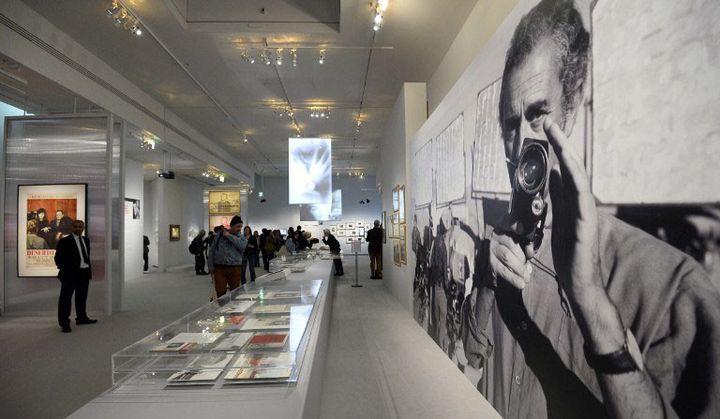"""L'exposition """"Antonioni aux origines du pop"""" à la Cinémathèque française  (BERTRAND GUAY / AFP)"""