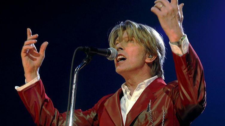 David Bowie en concert au Zénith de Paris le 24 septembre 2002. (OLIVIER LEJEUNE/ LE PARISIEN / MAXPPP)