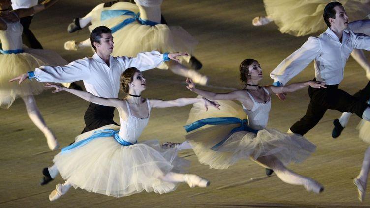 Le ballet du Bolchoï à la cérémonie de clôture des XXIIe Jeux Olympiques d'hiver de Sotchi en 2014. (PHILIPPE MILLEREAU / DPPI MEDIA)