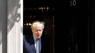 Boris Johnson, au 10 Downing Street, à Londres, le 6 août 2019. (TOLGA AKMEN / AFP)