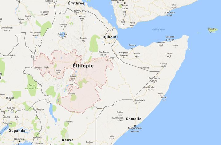L'Oromia est la plus grande et la plus peuplée des régions éthiopiennes (CAPTURE D'ÉCRAN GOOGLE MAP)