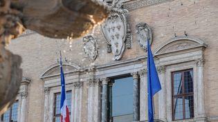Le palais Farnèse, siège de l'Ambassade de France à Rome, le 7 février 2019. (TIZIANA FABI / AFP)