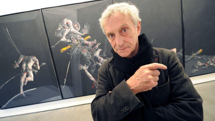 Le peintre serbeVladimir Velickovic en 2011 (ERIC CABANIS / AFP)