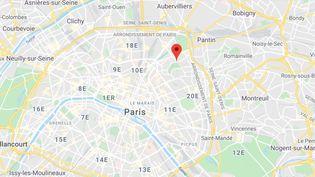 Rue Manin dans le XIXe arrondissement de Paris. (GOOGLE MAPS / FRANCEINFO)