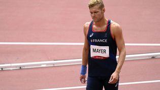 Le Français Kevin Mayer, lors du décathlon des Jeux olympiques de Tokyo. (CROSNIER JULIEN / KMSP / AFP)