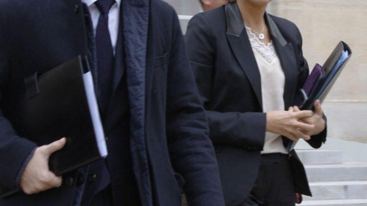 Le ministre de l'Economie, François Baroin, et la ministre du Budget, Valérie Pécresse, à l'Elysée, à Paris, le 7 novembre 2011. (FRANCOIS GUILLOT / AFP)