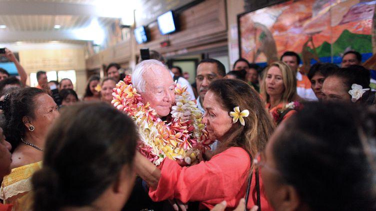 Gaston Flosse, le 22 novembre 2012 à Pirae (Tahiti, Polynésie française). (GREGORY BOISSY / AFP)