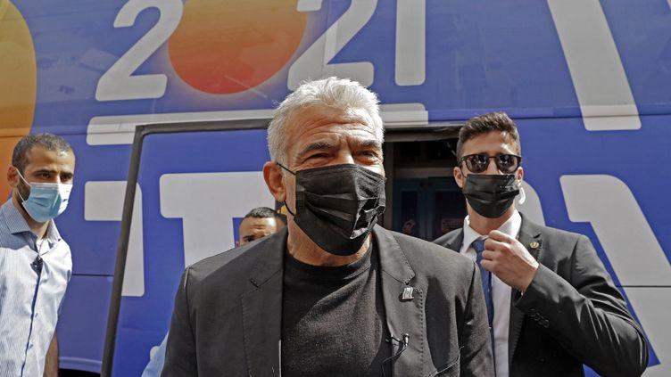 Yair Lapid, le 19 mars 2021, àHod Ha'Sharon. (JACK GUEZ / AFP)