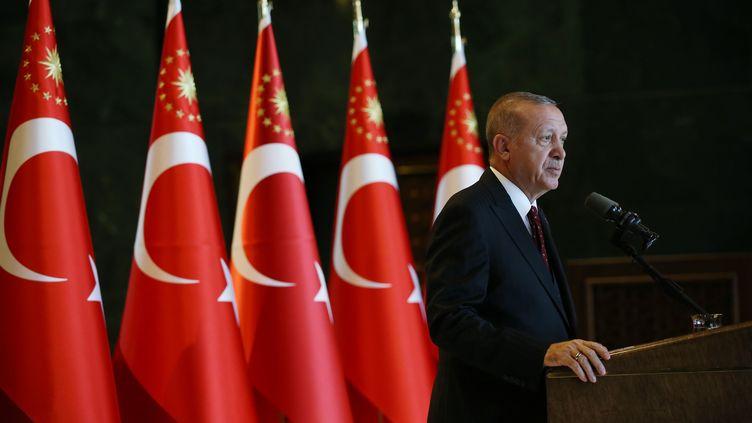 Le président turc, Recep Tayyip Erdogan, à Ankara (Turquie), le 6 août 2019. (MURAT KULA / ANADOLU AGENCY / AFP)