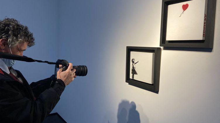 """""""La fille au ballon"""" de Banksy (LINDA ABI ASSI / AFP)"""