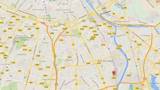 La rue Léon-Geffroy, à Vitry-sur-Seine (Val-de-Marne), où un enfant de 18 mois est mort renversé par une voiture, le 22 mars 2014. (GOOGLE MAPS)