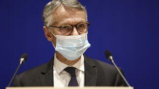 Jean-François Ricard,procureur de la République antiterroriste, lors d'une conférence de presse, à Paris, le 21 octobre 2020. (THOMAS SAMSON / AFP)