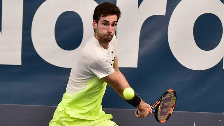 (Quentin Halys, 18 ans, 296e joueur mondial, affronte ce mardi sur le court Philippe-Chatrier Rafael Nadal au 1er tour de Roland-Garros © MaxPPP)
