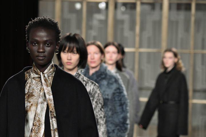Petar Petrovpap féminin automne-hiver 2020-21 à la London Fashion Week, le 15 février 2020 (VICTOR VIRGILE / GAMMA-RAPHO)