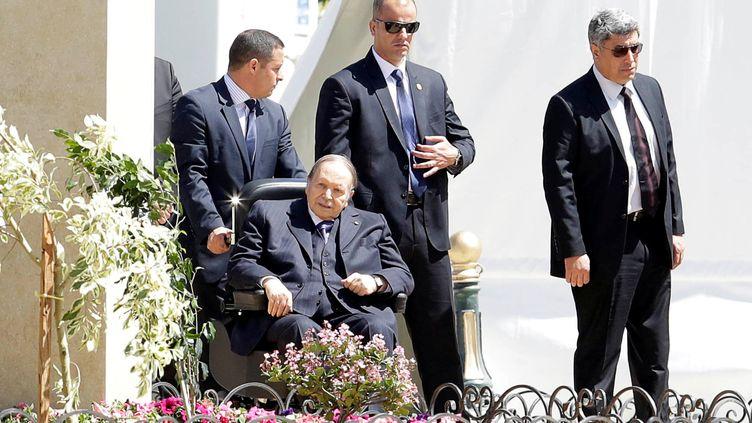 Le président algérien Abdelaziz Bouteflika, à Alger, le 9 avril 2018. (RAMZI BOUDINA / REUTERS)