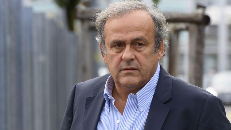 Michel Platini, le 31 août 2020 à Berne (Suisse). (ANTHONY ANEX / KEYSTONE)