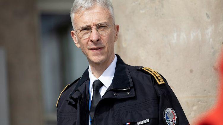 Le préfet de police, Didier Lallement, à Paris, le 10 mai 2020. (THOMAS SAMSON / AFP)