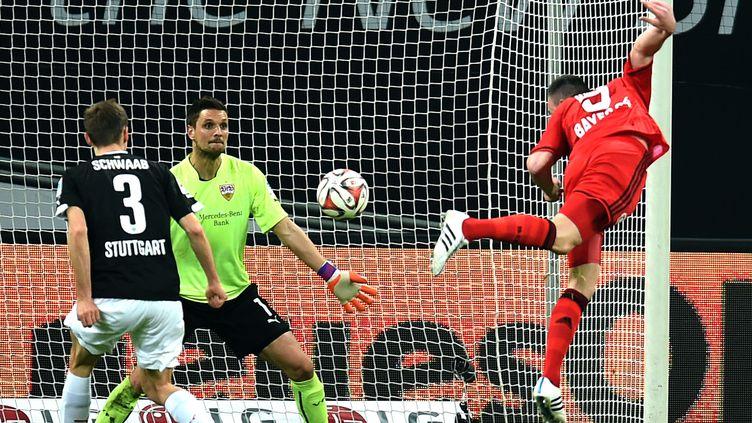 Josip Drmic a inscrit un doublé (PATRIK STOLLARZ / AFP)