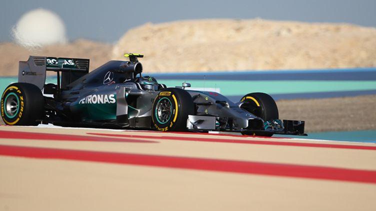 Nico Rosberg (Mercedes) encore impérial lors des qualifications (MARWAN NAAMANI / AFP)
