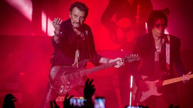 Concert de Johnny Hallyday dans les Arènes de Nîmes le 17 juillet 2016  (WORLDPICTURES/MAXPPP)
