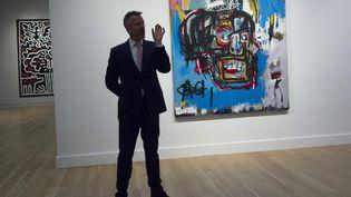 L'œuvre de Basquiat vendue aux enchères pour 110,5 millions de dollars, à New York, le 18 mai 2017. (DON EMMERT / AFP)