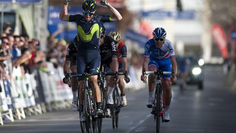 Alejandro Valverde s'impose. (JORGE GUERRERO / AFP)