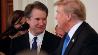 Le président Donald Trump a nommé le 9 juillet 2018 le magistrat Brett Kavanaugh à la Cour suprême des Etats-Unis. (JIM BOURG / REUTERS)