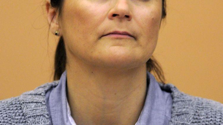 Nathalie Pigeot, élue FN au conseil régional de Lorraine et candidate aux départementales de 2015, le 26 mars 2010. (MAXPPP)