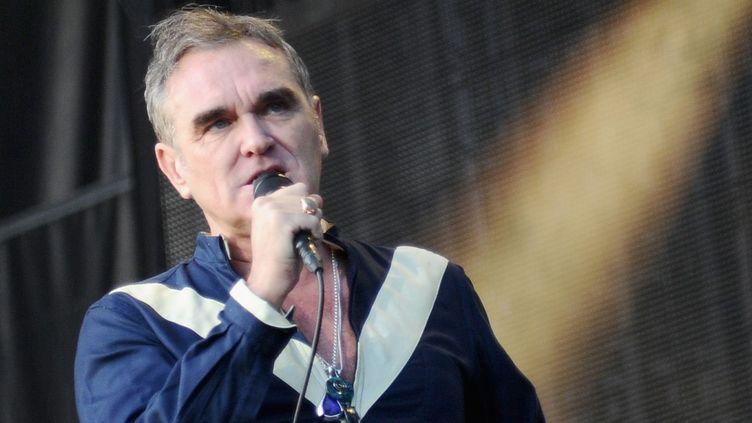 Morrissey sur scène en juin 2015 aux Etats-Unis.  (Ilya S. Savenok / Getty Images / AFP)