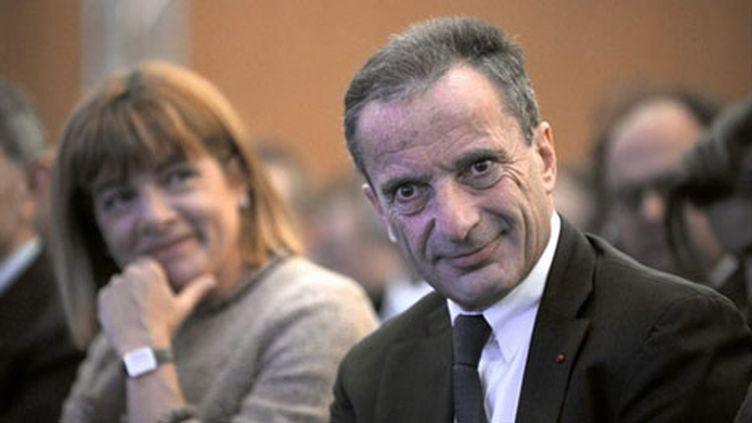 Anne Lauvergeon (Areva) et Henri Proglio (EDF), le 8 mars 2010. (AFP -Martin Bureau)