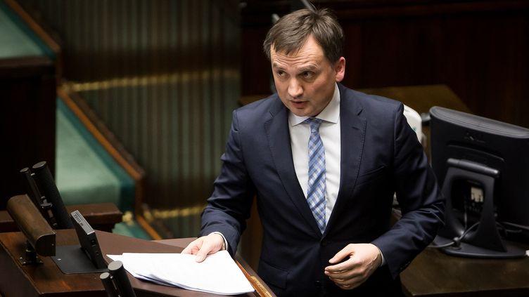 Le ministre de la Justice polonais, Zbigniew Ziobro, le 30 janvier 2019. (MATEUSZ WLODARCZYK / NURPHOTO)