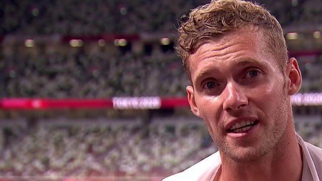 Exploit pour l'athlète français. A l'issue du 1500 mètres du décathlon, Kevin Mayer a de l'argent plein les yeux. Le vice-champion olympique ne croit pas en son résultat après une blessure au dos encombrante.