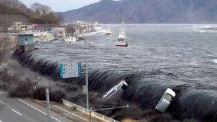 Le tsunami à Miyako (Japon), le 11 mars 2011. (JIJI PRESS / AFP)
