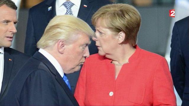 Le ton monte entre Donald Trump et Angela Merkel