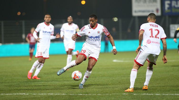 Les joueurs du Red Star toujours dans la course à la montée en Ligue 1 (?THIERRY LARRET / MAXPPP)