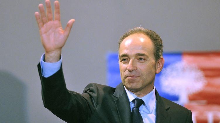 Jean-François Copé, le 23 avril 2013 au Coudray-Montceaux (Essonne). (PIERRE ANDRIEU / AFP)