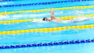 Le nageur Alex Portal a décroché la médaille de bronze sur le 400 mètres S13, le 27 août aux Jeux paralympiques de Tokyo. (CPSF / NGUYEN TUAN)